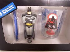 1998 Warner Bros. Studio Store BATMAN AND ROBIN CUP and TOOTHBRUSH SET. NEW!