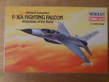 1:144 Minicraft nº 14424 f-16a Fighting Falcon. Warplanes of the World Kit.