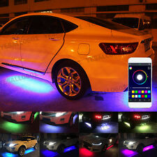4x RGB LED Under Car Tube Strip Underglow body Neon Light Kit Phone App Control