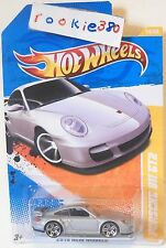 2010 Hot Wheels NEW MODELS #14/44 - PORSCHE 911 GT2 - SILVER VARIANT USLC REG