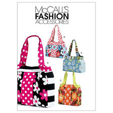 McCall's 6335 OOP Sewing Pattern to MAKE Funky Contrast Fabric Tote Bag