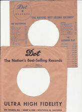 Dot Records- 2 Original 1950's 45 Record Company Sleeves