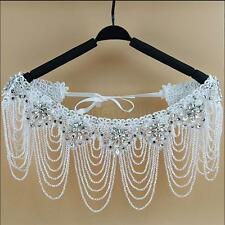 Bridal Jewelry Rhinestone Necklace Lace Shoulder Shawl Strap Body Chain