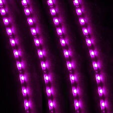 4 X 15 LED 30cm Car Flexible Waterproof Strip Light Purple 12V Underbody Sales