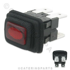 SW53 RED ILLUMINATED PUSH BUTTON ON OFF POWER SWITCH 20x13mm WITH RUBBER BOOT