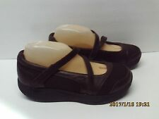 Skechers Shape Ups Womens Size 9.5 Brown Mary Janes Shoes Walking Toning