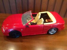 Barbie Red Mustang Convertible GT 1:6 Scale Plastic Car