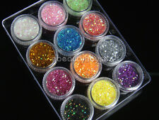2 Grams X 12 Colors Neon Glitter Slice Spangles Acrylic Nail Art #031E