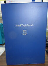 British Virgin Islands 1973 Proof Coin Set First Day Covers Folder Silver Dollar