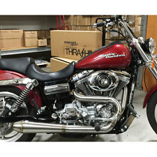 Thrashin Supply Stainless Exhaust for 1991-2016 Harley Dyna 2-Into-1