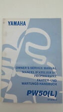 Yamaha Motorbike PW50(L) Factory Owners Service Manual. 1st ed., May 1998