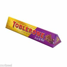 4 x 360g BARS OF SWISS IMPORTED CHOCOLATE  TOBLERONES WITH FRUIT AND NUT