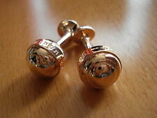 Montblanc Mont Blanc Rose Gold Ball Cufflinks RARE Pair