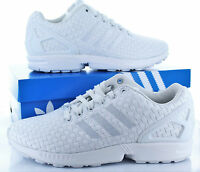 ADIDAS ORIGINALS MENS NEW ZX FLUX TORSION WHITE TRAINERS SNEAKERS 100% GENUINE