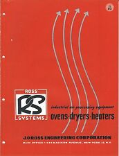 MRO Brochure - Ross Systems Industrial Air Ovens Dryers Heaters - c1952 (MR59)