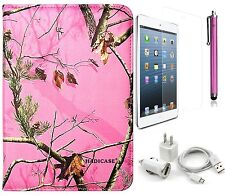 for iPad Mini 1 / 2 /3 Pink Camo Smart CASE Stylus Screen Protector Charger