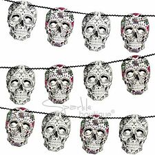 DAY OF THE DEAD GARLAND - Luxury Halloween Sugar Skull Bunting/Party Decoration
