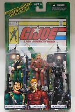 "G.I. Joe Comic Pack RAPHAEL ""ZAP"" MELENDEZ, GRUNT, & SNAKE EYES - Set NIP"