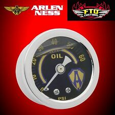 Arlen Ness Replacement Oil Pressure Gauge 0-60 LB Chrome All Harley Davidson