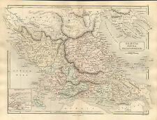Antient Geografia Mappa da Samuel Butler 1869-Magna EXTRA peloponnesum