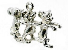 STERLING SILVER 3 BLIND MICE CHARM