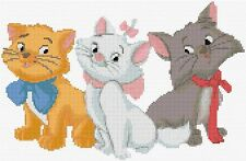 "Aristocat chatons Compté Cross Stitch Kit films Disney 12 ""x 8"" free p & p"