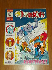 THUNDERCATS #87 10TH DECEMBER 1988 BRITISH WEEKLY FREE POSTER GIFT INCLUDED