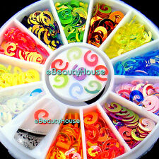 12 colors illusion colorful nail art decoration + wheel New #002C