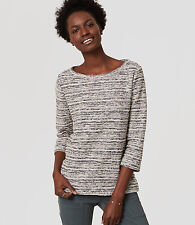 Ann Taylor LOFT - Womens XS - NWT - Reverse French Terry Cotton Sweatshirt Top