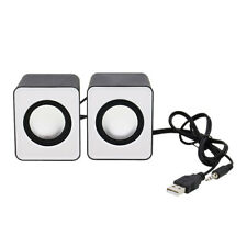 Mini 2.0 Computer Speaker USB Power 3.5mm Jack For MP3 Phone PC Laptop Tablet US