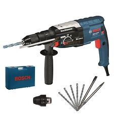 Bosch marteau perforateur guitariste 2-28 DFV + 5 sds perceuse + 2 burin + valise + Mandrin