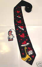 New Dr. Seuss The Cat And Hat Comes Back Blue 100% Silk Neck Tie Ham Love Hearst