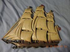 """Vintage Syroco Mid Century Ship Sail Boat Wall Art No. 4261 16"""""""