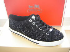 COACH Black Suede IAN STONES PLATFORM SNEAKERS NEW 9