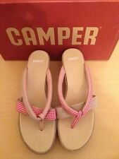 Camper Twins 20654 Wedge Style Kari Red Sandal EU41 RRP£80 *BARGAIN PRICE*