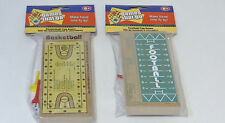 "Wooden Peg Travel Games ""games that go"" FOOTBALL & BASKETBALL Ages 6+ boys girls"