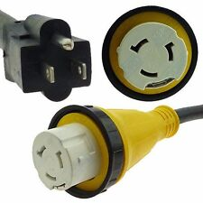 RV Power Cord Adapter 15 amp Male 5-15P to 50 amp twist lock female SS2-50R