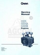 ONAN CCK CCKA & CCKB Engine Service Shop Manual