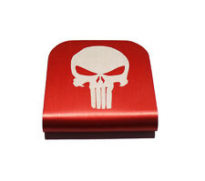 Punisher Hat Clip Red for Tactical Patch Caps by Morale Tags