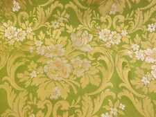 Green With Gold Baroque Italian Made Brocade Fabric. (Simply exceptional)