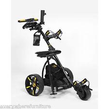 2017 Bat Caddy BLACK X3 Electric Motorized Golf Push Cart Trolley w/ ACCESSORIES