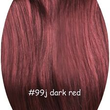 Hair Extensions Wire One Piece Remy Human Hair 100% real Straight Double Weft