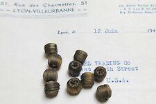 1 Doz Antique/Vintage French Dark Gold Metallic Drop Ball Tassel Trim Bobble