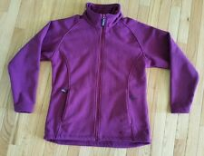 Gelert Ottawa Zip Fleece Jacket Womens Purple Plum Walking Outerwear Size 10
