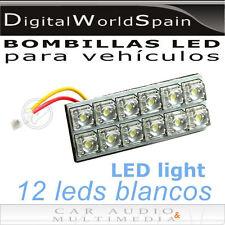 PANEL DE 12 LEDS 50x20mm CON 5 ADAPTADORES DISTINTOS LUZ BLANCA ENVIO GRATUITO