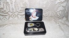 MARILYN MONROE POCKET KNIFE AND KEYCHAIN SET IN TIN NEW!