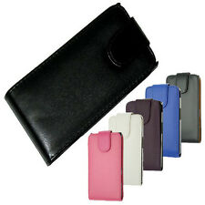 For Sony Xperia S LT26i LT26 Vertical Flip Cover Pouch Holder Case Black New UK