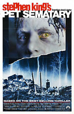 Framed Retro Movie Poster – Stephen King Pet Sematary 1989 (Replica Print Art)