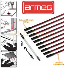 ARMEG 10 x 1 Metre (1m) Extreme Strength Cable/Wire Guide Rod + Accessories Set
