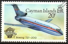Cayman Airways BOEING 727-200 Airliner Aircraft Stamp (1983 Cayman Islands)